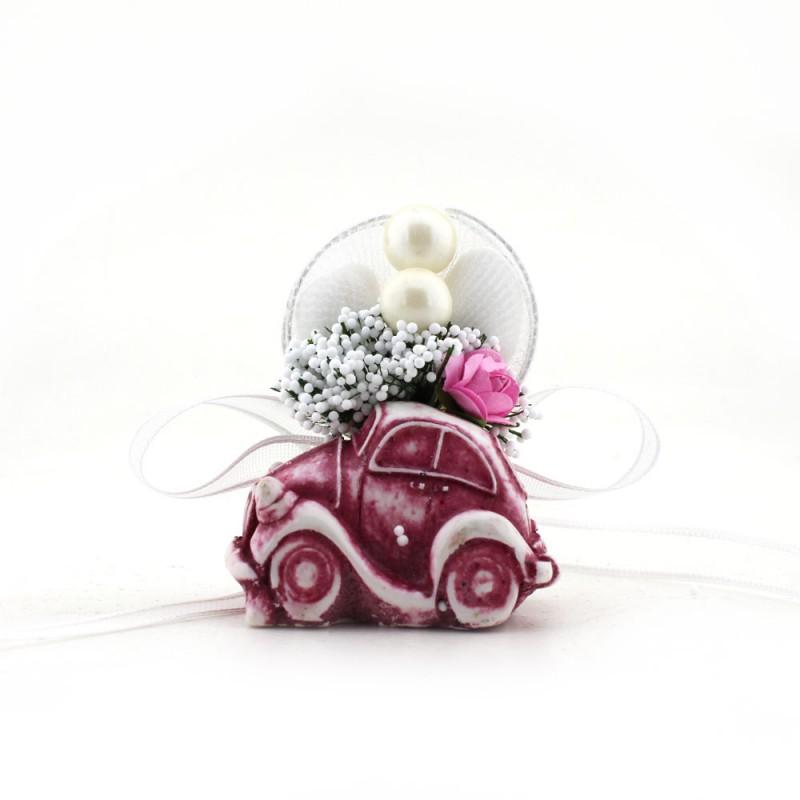 Poly Mor Minik Araba Çiçekleri Karışık Renk