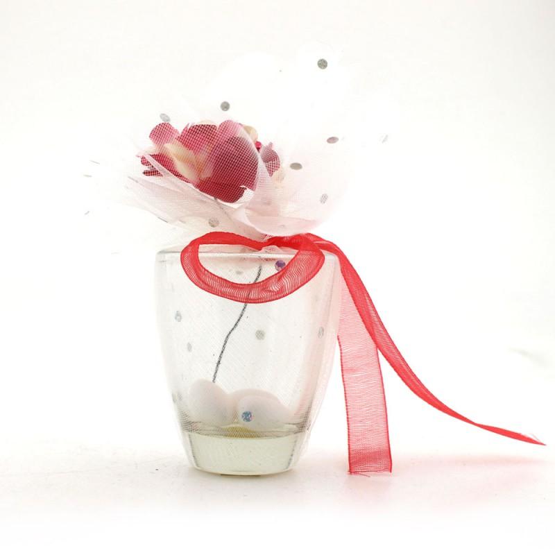 Cam Bardak Tülleri ve Çiçekleri Karışık Renk