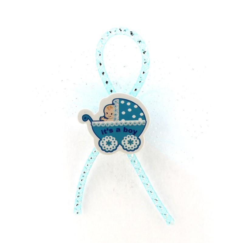 Mavi Pusette Bebek Sticker