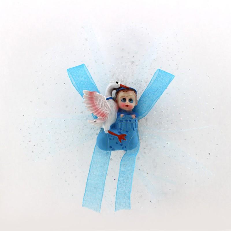 Mavi Küçük Leylekli Bebek