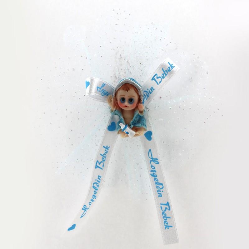 Mavi Bornozlu Bebek