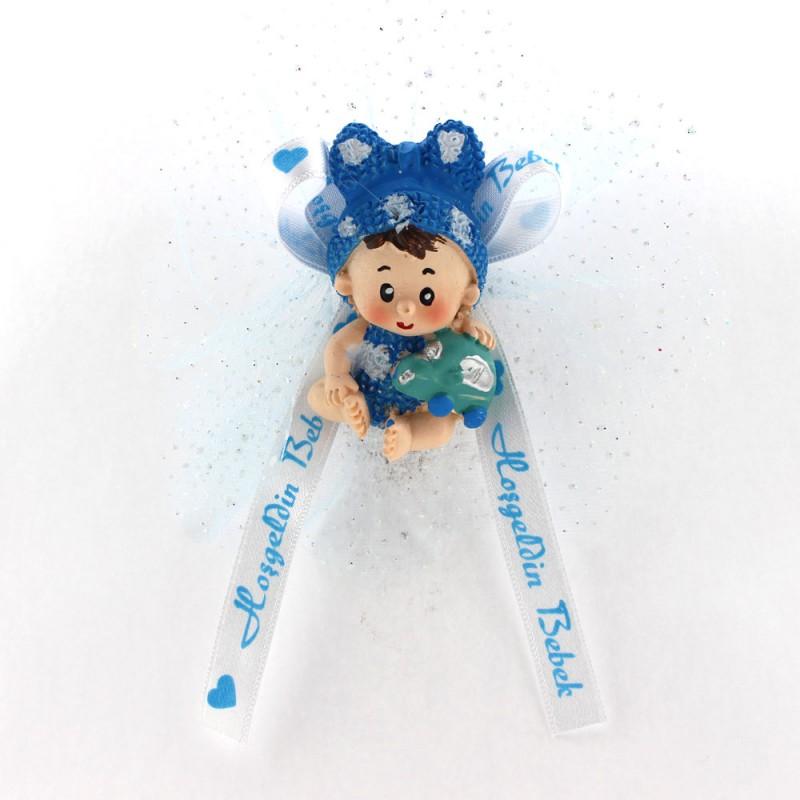 Mavi Yarım Bereli Bebek