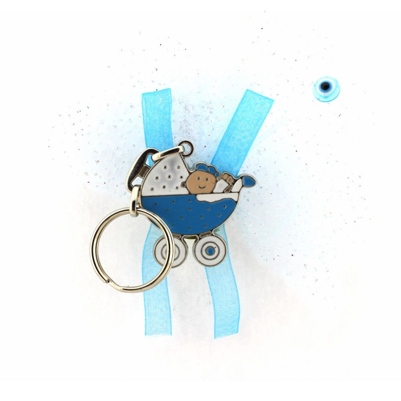 Mavi Puset Anahtarlık
